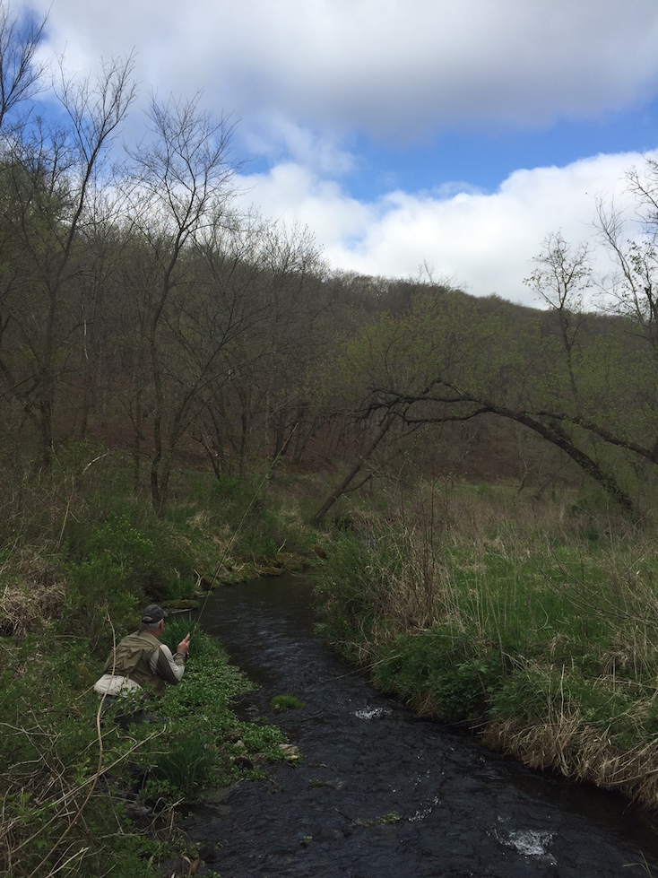 Why we love fly fishing small creeks 2 guys and a river for Small creek fishing